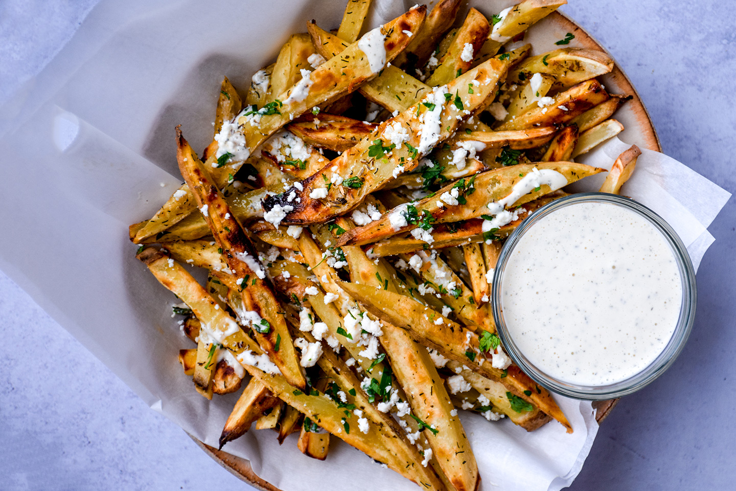 """<p style=""""text-align: right;""""><a href=""""/loaded-greek-fries"""">Loaded Greek Fries</a></p> <p style=""""text-align: right;"""">Classic, Plant-based, Paleo, &amp; Low Carb</p>"""