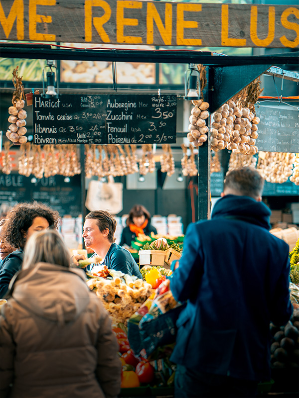 """<p style=""""padding-left: 15px; padding-right:15px"""">""""Cuisines and local markets taught me the most about a new culture.""""</p> </br> <span style=""""font-weight: bold"""">Global Flavors</span> <p>Sicily, France, and England</p>"""